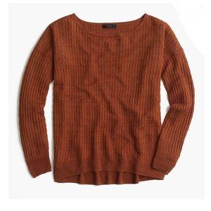 J. Crew Linen Cable Knit Crewneck Sweater F1733